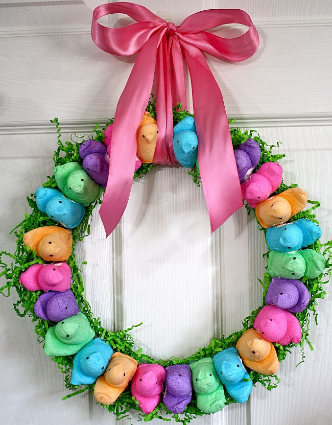 peeps wreath 3
