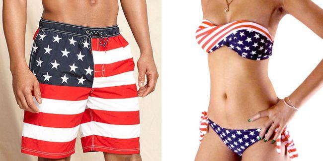 Flag swimwear