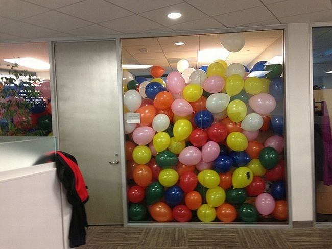 Office balloon party