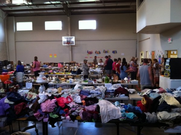 SRAS rummage and bake sale